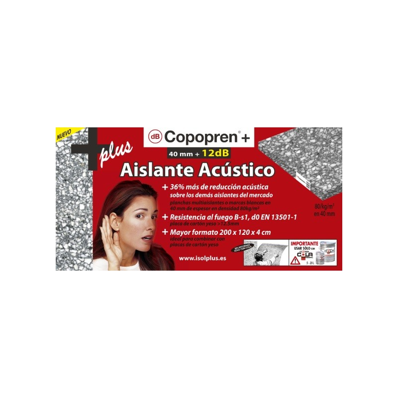 Nuevo copopren acustico plus 12 db cir62 - Aislamiento acustico copopren ...
